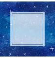 blue galaxy night sky watercolor banner card vector image vector image