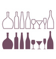 Bottle Outline Silhouette vector image vector image