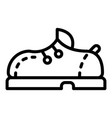 bowling shoe icon outline style vector image vector image