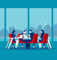 business office team workplace concept business vector image vector image