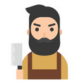 butcher icon profession and job vector image vector image