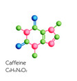 caffeine structural chemical formula isolated on vector image