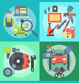 car repair station concept mechanic vehicle auto vector image vector image