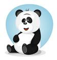 cartoon cute panda character vector image