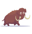 Cartoon Mammoth isolated on white background