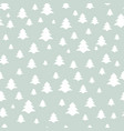 christmas tree seamless pattern holiday background vector image vector image