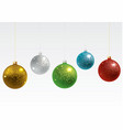 colorful christmas balls set vector image