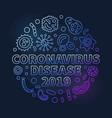 coronavirus disease 2019 round colored line vector image vector image