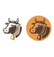 cow color head vector image vector image