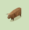 Cow triangle abstract isolated vector image