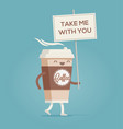 cup coffee coffee to go vector image