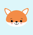 cute fox childish background with vector image