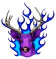 deer horns fire logo design concept vector image vector image
