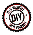 do it yourself label or sticker vector image vector image