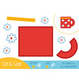 education paper game for children cup vector image vector image