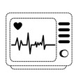 electrocardiograph machine isolated icon vector image vector image