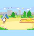 empty urban playground vector image