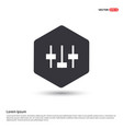equalizer icon hexa white background icon template vector image