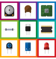 flat icon appliance set of hdd recipient vector image vector image