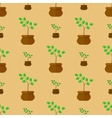 Flower Pot Seamless Pattern vector image vector image