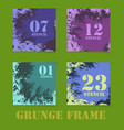 four flyers in grunge style for business or vector image