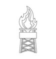 Gas toweroil single icon in outline style vector image