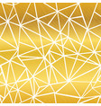 golden white glowing geometric mosaic vector image vector image