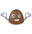 grinning chocolate candies character cartoon vector image