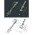 guitar sketches vector image