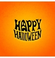 Halloween card with modern lettering style label vector image vector image