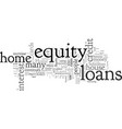 home equity loans a walkthrough guide home vector image vector image