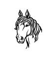 horse head silhouette printable file farm vector image vector image