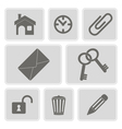 icons with symbols of work in the office vector image vector image