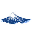 japanese mountain fuji mount ink brush calligraphy vector image
