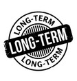 long-term rubber stamp vector image