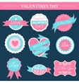 love romantic set retro label template of emblem vector image