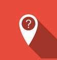 map pointer with question symbol icon isolated vector image