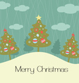 merry christmas card vector image vector image