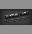 metal beveled alphabet vector image vector image