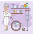 orthopedics store design trendy vector image