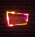 pink red yellow glowing light background on brick vector image vector image