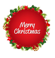 Red Speech Bubble With Christmas Icon vector image vector image
