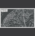samara russia city map in retro style outline map vector image vector image