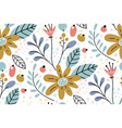 seamless pattern with creative decorative flowers vector image vector image