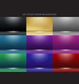 set 9 abstract studio room background vector image