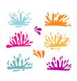 set colorful splatter holi fectival splashes vector image
