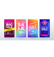 set dynamic modern fluid sale banner for social vector image