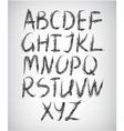 set handwritten font vector image vector image