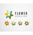 Set of abstract flower logo business icons