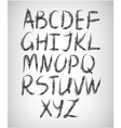 set of handwritten font vector image